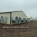 養鶏場装置が付いている軽い鉄骨構造の肉焼き器の農場