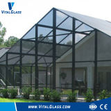 Vidrio machacado teñido/vidrio Tempered gris oscuro/edificio Glass//Fireproof de cristal