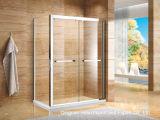 Glace de porte de douche en verre Tempered de flotteur d'espace libre de pièce de douche