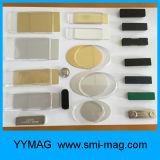 Ímã repetível plástico do Tag conhecido/emblema magnético com adesivo