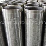 Pantalla preembalada grava de la ranura del alambre del acero inoxidable para el filtro Drilling