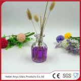Botella redonda del difusor de la caña del aroma del vidrio de 50ml