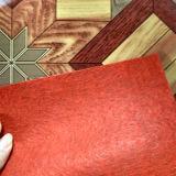 PVC en bois Rolls parquetante en plastique de support de feutre de regard de linoléum