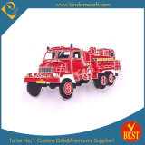 Fire Fighting Vehicle Enamel Memory Pine Badge for Gift