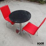 中国のレストランの家具のカスタム円形の固体表面表(T1704261)