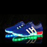 2016 Mannen USB die van de Vrouwen van de Fabriek de In het groot Unisex- Lichte Opvlammende LEIDENE van Tennisschoenen Schoenen laden