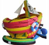 小さくかわいく膨脹可能な海賊ボート