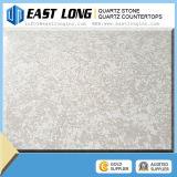 Superfície contínua 3cm de quartzo de Brown, laje de mármore artificial da pedra de quartzo para a bancada da cozinha barato