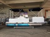 barco de alumínio de flutuação recreacional do pontão da venda quente de 6m para a pesca