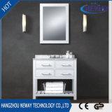 Шкафы тщеты ванной комнаты классицистического типа твердой древесины белые американские