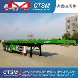 3 de Lage Aanhangwagen van de Vrachtwagen van de Aanhangwagen van de Oplegger van de Oplegger van het Bed Alxe