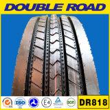 O melhor pneu chinês 285/75r24.5 285 do caminhão da estrada do dobro do tipo 75 24.5 quatro linha pneu 1100r20 do caminhão do teste padrão do reforço