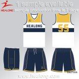 Healongのスポーツ・ウェアカスタムメンズバスケットボールジャージー