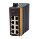 8 Portes Gigabit Gigabit Gigabit Industrial Poe Switch 4 ports Poe et 4 ports Gigabit SFP Fiber Support réseau anneau