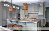 Gabinete de cozinha de creme do estilo da praia da cor com revestimento afligido (WH-D297)