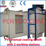 2 Working StationsのPVC Manual Powder Coating Booth
