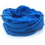 工場OEMの農産物のカスタムロゴのMicrofiber青いペーズリーの淡黄色の多機能の伸縮性があるヘッドバンド