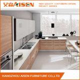 Armadio da cucina di legno Mixed di colore della lacca lucida bianca moderna professionale