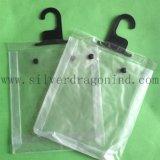 Buttonの明確なPVC Hanger Bags