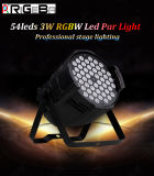 54PCS * 3W RGBW LED PAR Can Económico luz para la etapa