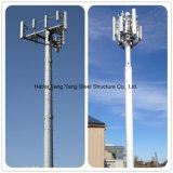 Torre de comunicação de aço galvanizada alta qualidade da micrôonda