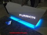 RGB 7 couleurs Bureau de réception en marbre Blanc Récompense de réception moderne Comptoir de conception de mode