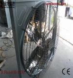 As aves domésticas abrigam o exaustor refrigerando