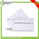 13.56MHz ISO14443A PVC白いブランクスマートカードMIFARE Ultralight Cのカード