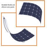배 캐라반을%s 태양 장비 100W 고능률 Sunpower 태양 전지 유연한 태양 전지판