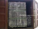 粉の上塗を施してあるやりの上の鋼鉄塀のパネル