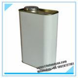 Stahlbehälter des zinn-1liter mit Betätigen-Art Kappe