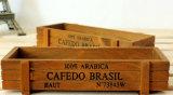 El vino natural de madera de pino del color encajona la caja de presentación de encargo (FWB0001)