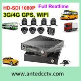 H. 264 definição elevada 4/8CH HDD DVR móvel com seguimento de WiFi 3G 4G GPS