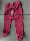 Pantalones 100% del bebé del OEM del algodón con las polainas