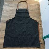 Alta qualidade feita sob encomenda avental lavado da lona com cintas de couro