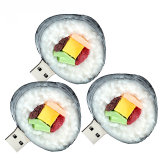 USB Flash Drive de PVC sushi personalizada Alimentación USB Stick