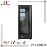 Glass Door Network Cabinet with Arc Perforated Border