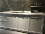 Mobília linear elegante da cozinha do estilo do gabinete de cozinha da laca