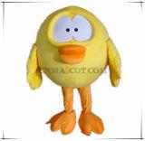 Traje superior da mascote da galinha do projeto