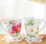 O projeto da flor de China acopla do copo clássico da porcelana do copo o copo cerâmico