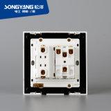 Interruttore della parete di serie 2gang&1socket del PC