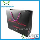 Bolso de compras de papel de encargo para el paño y empaquetar