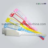 Hospital descartável do PVC RFID/NFC uns Wristband/bracelete do uso do tempo