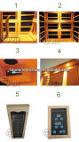 쉬운 유형 Sauna 룸 2 사람 사용 적외선 가정 Sauna를 설치하십시오