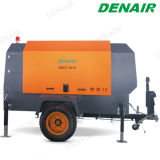 Compressor de ar portátil do parafuso do motor Diesel para o equipamento de broca
