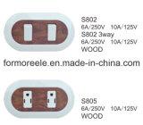 南アメリカの市場のためのが付いている6A 250Vの壁スイッチ