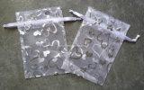 Heart PrintingのオーガンザGift Bag