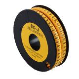 PVCワイヤー管のマーカー欧州共同体Serice黄色く柔らかいケーブルのラベル