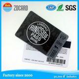 광택 있는 PVC 이름 또는 명함을 인쇄하는 4개의 색깔 플라스틱