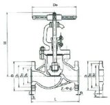 Robinet d'arrêt sphérique de vapeur de fer de moulage J11t-16 (DN15~DN50)